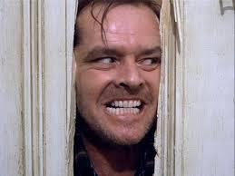 """Пример психопатической личности. Кадр из фильма """"Сияние""""."""
