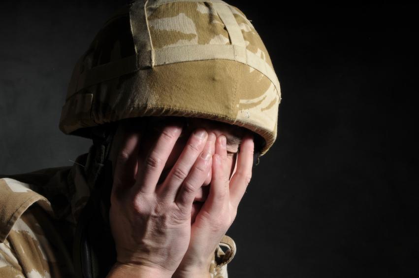 солдат с ПТСР