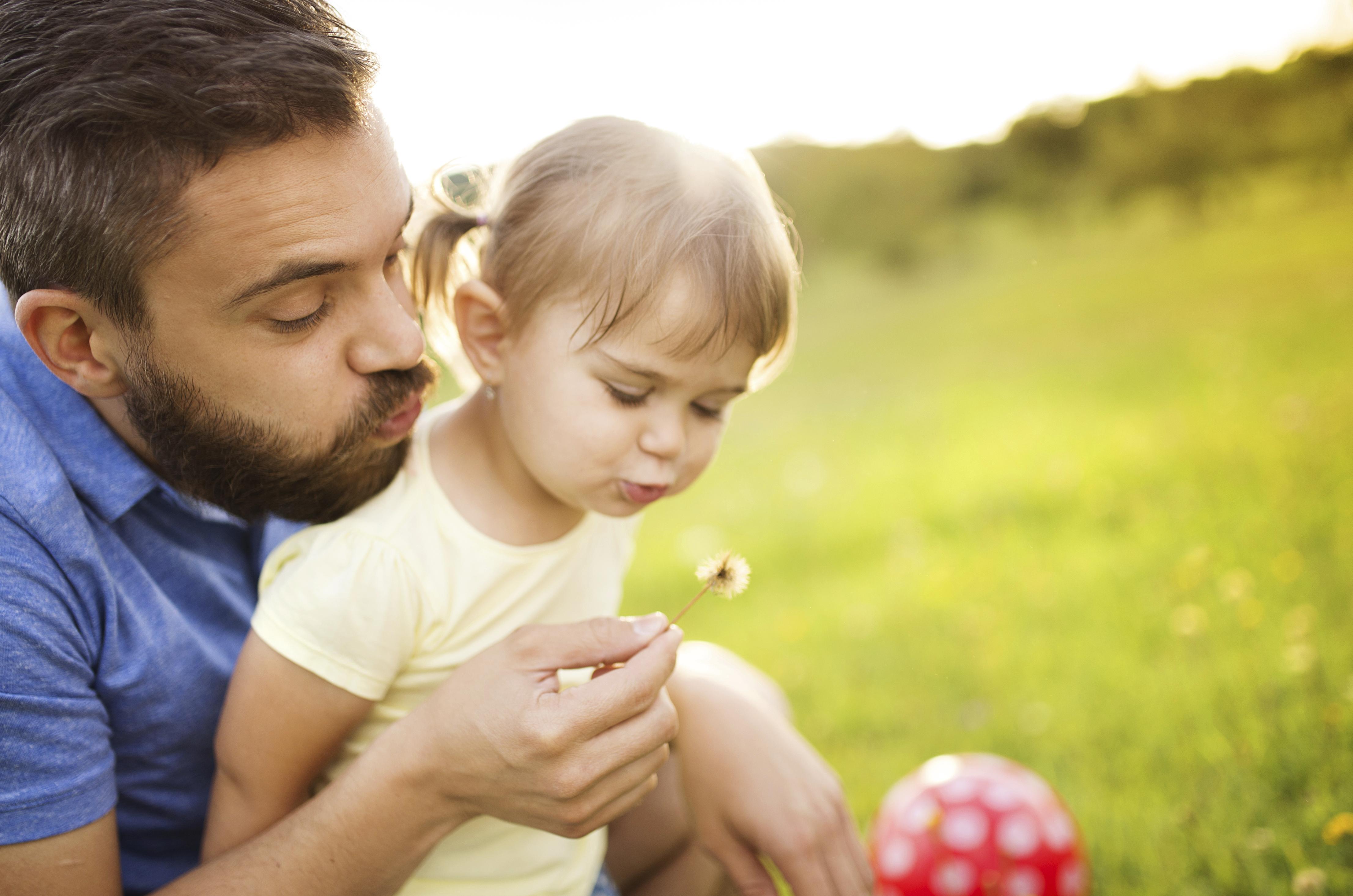 папа с дочерью